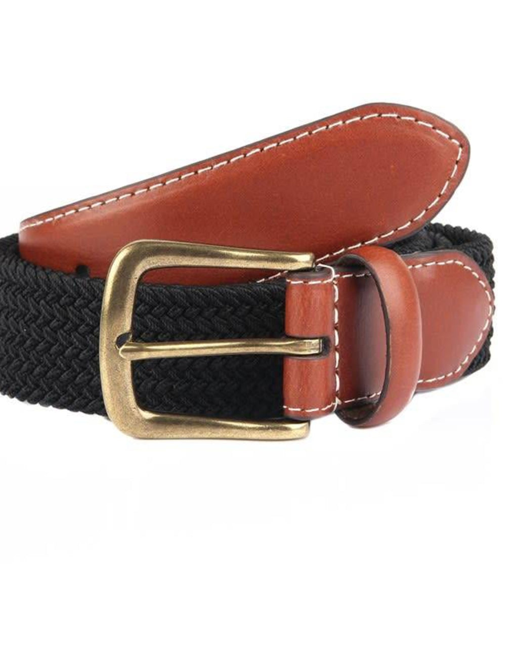 Dents Elasticated Casual Belt - Black - MitchellMcCabe