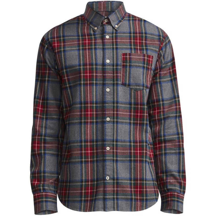 No Nationality Flannel Check Shirt - Black Check - MitchellMcCabe