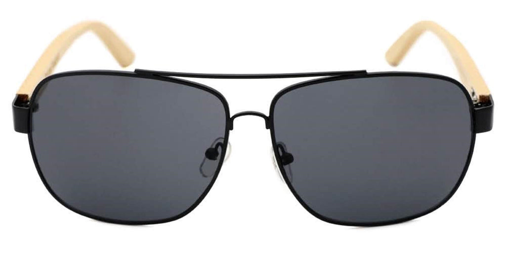 Black Bamboo Aviators