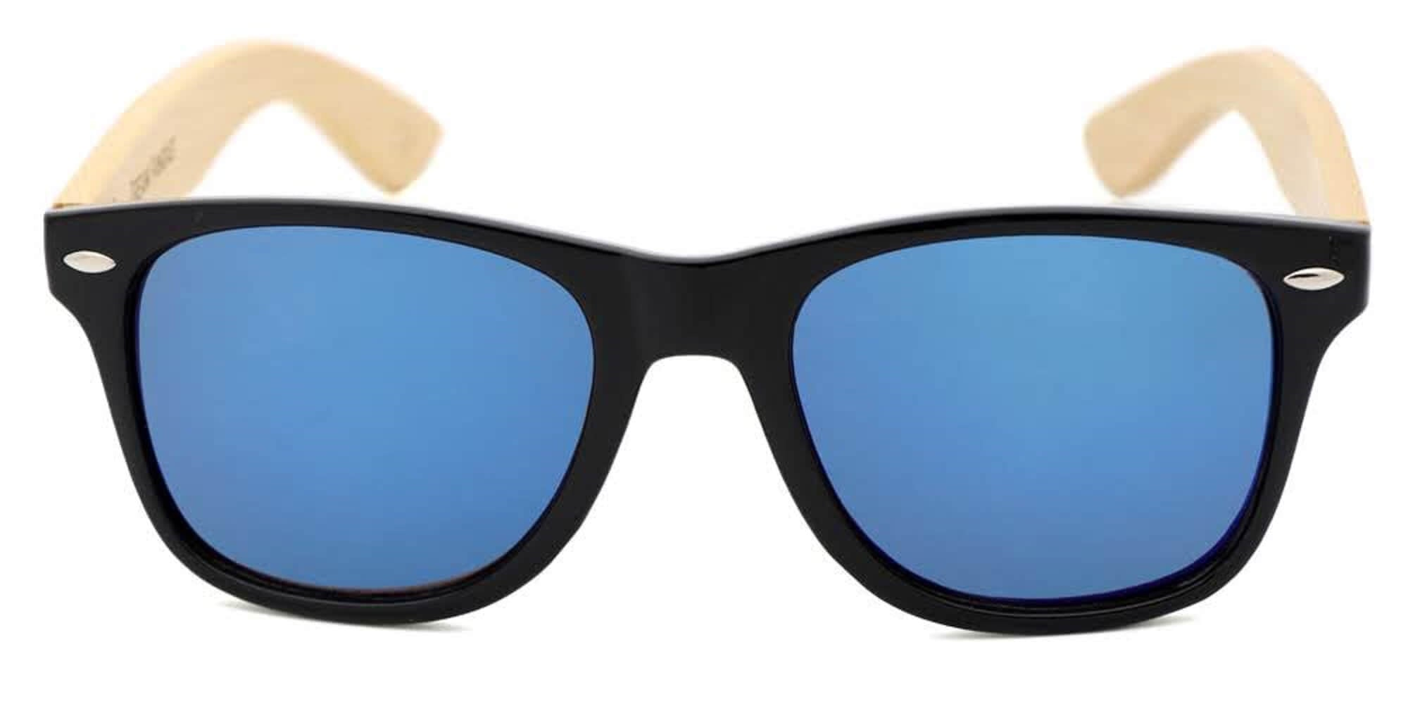 Black & Blue Wood Sunglasses