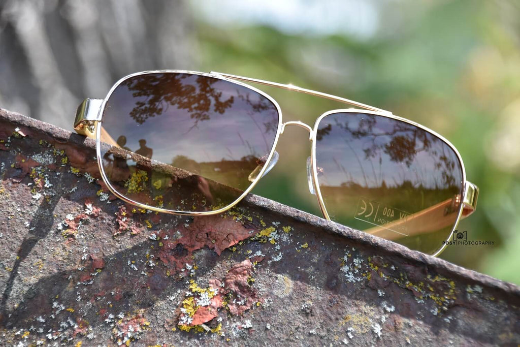 Golden Bamboo Aviators