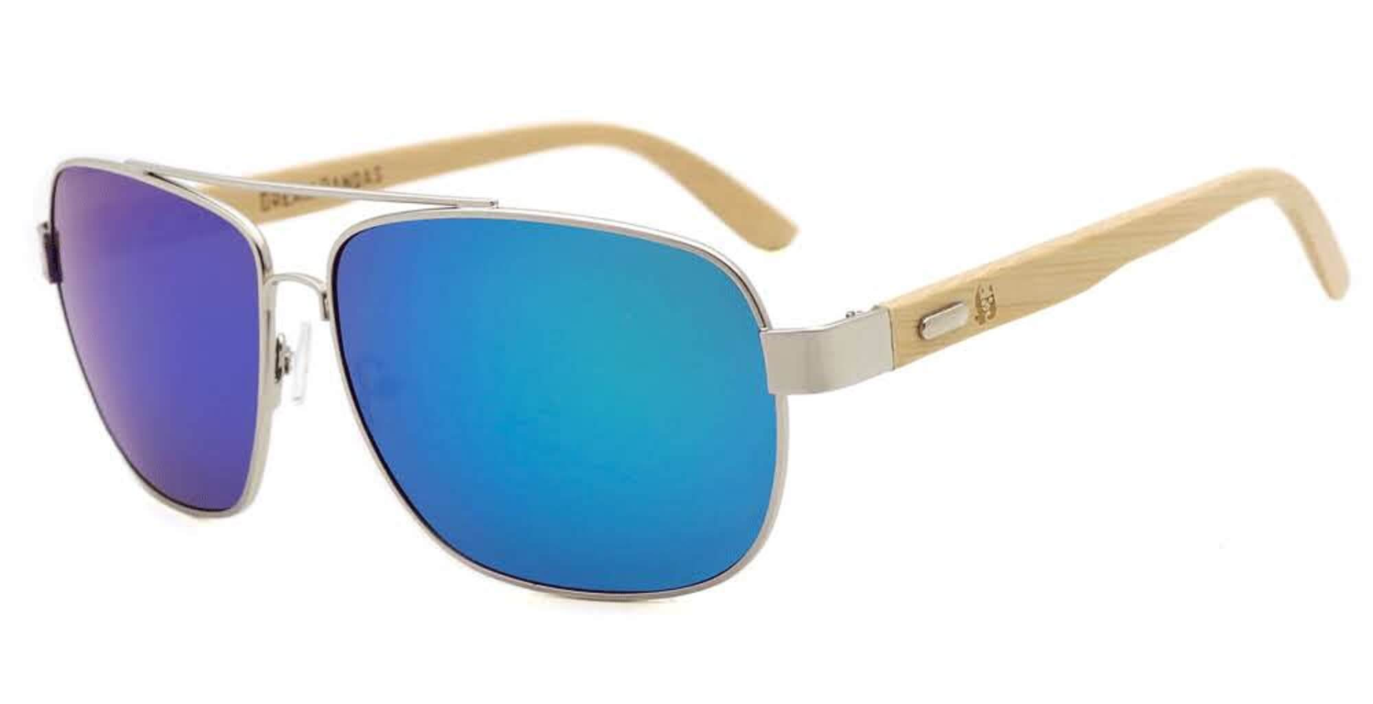 Green Bamboo Aviators