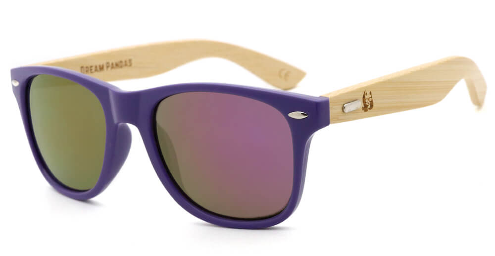 Purple Bamboo Wood Sunglasses