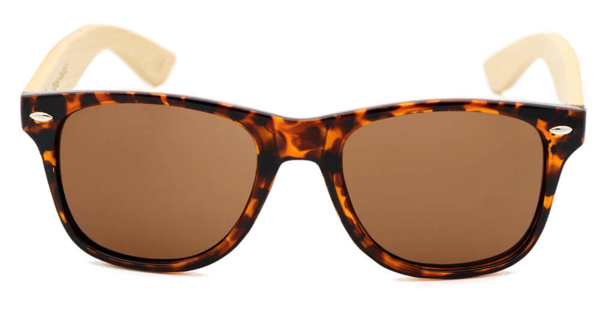 Red Tortoise Bamboo Wood Sunglasses