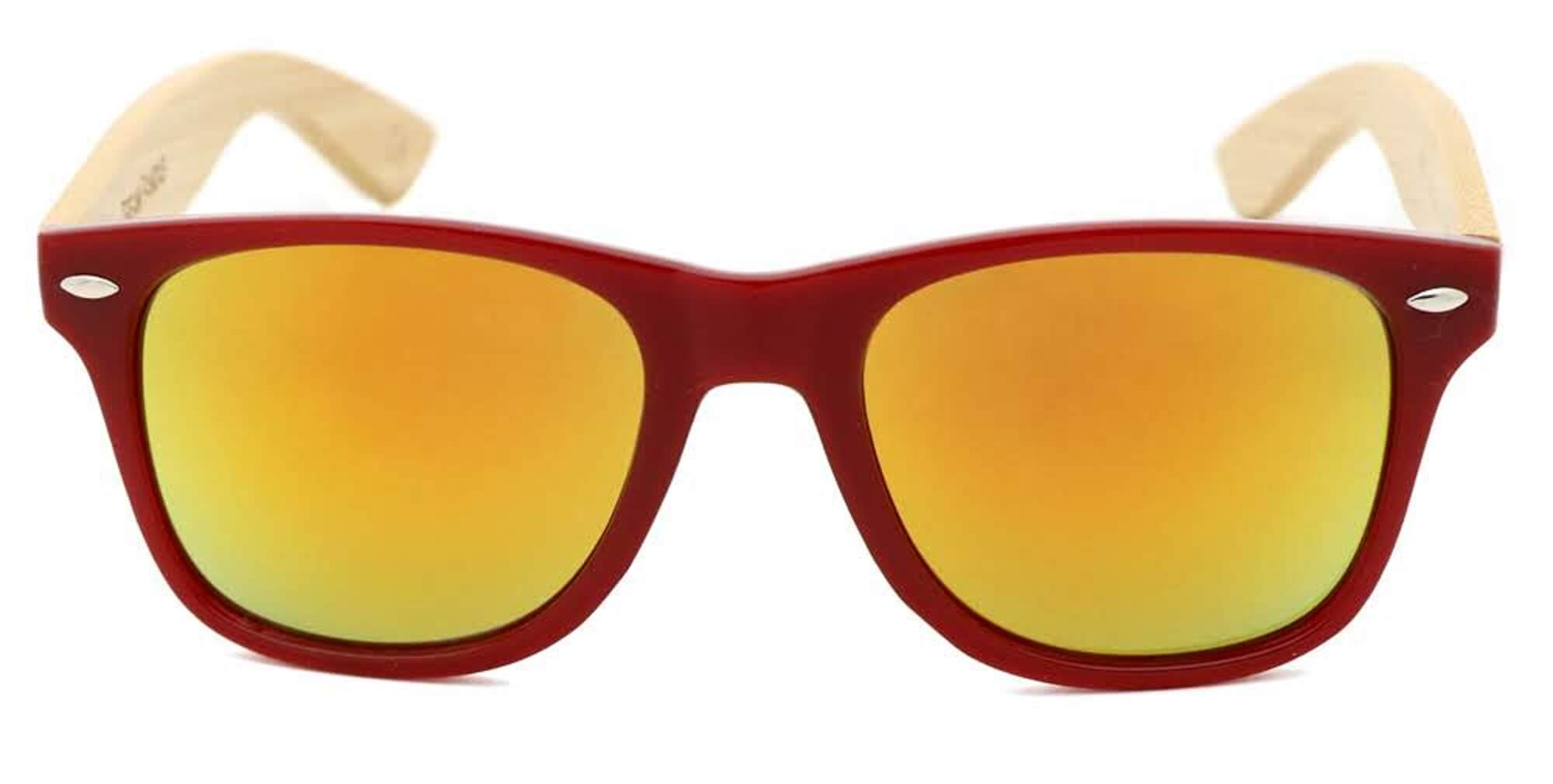 Red Bamboo Wood Sunglasses