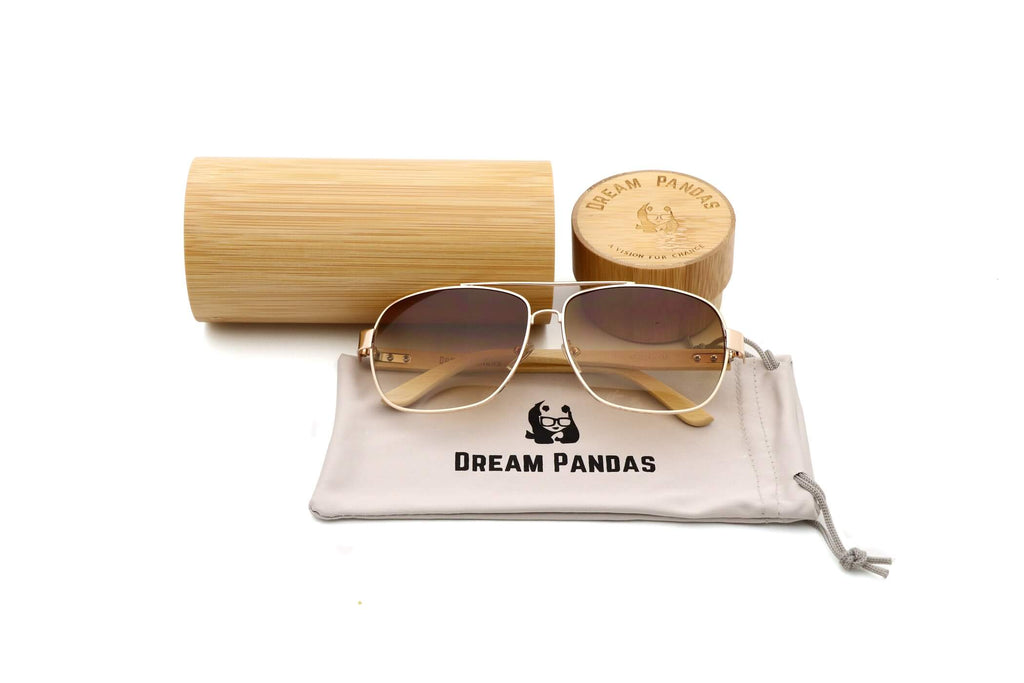 Yellow Bamboo Wood Sunglasses