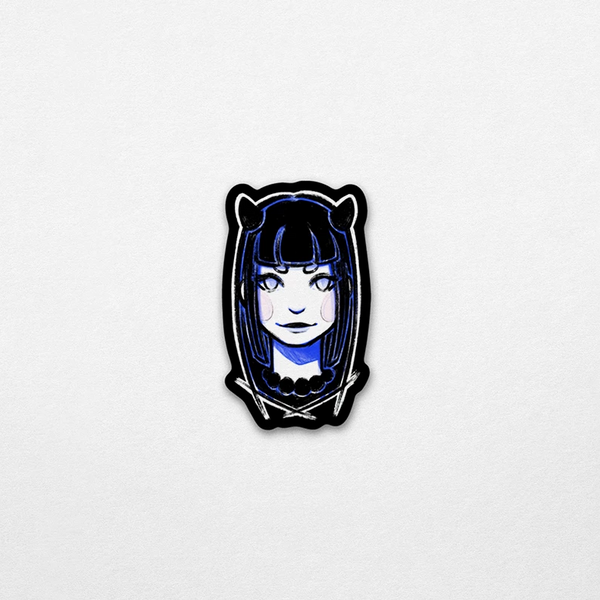 Demon Girl Vinyl Sticker