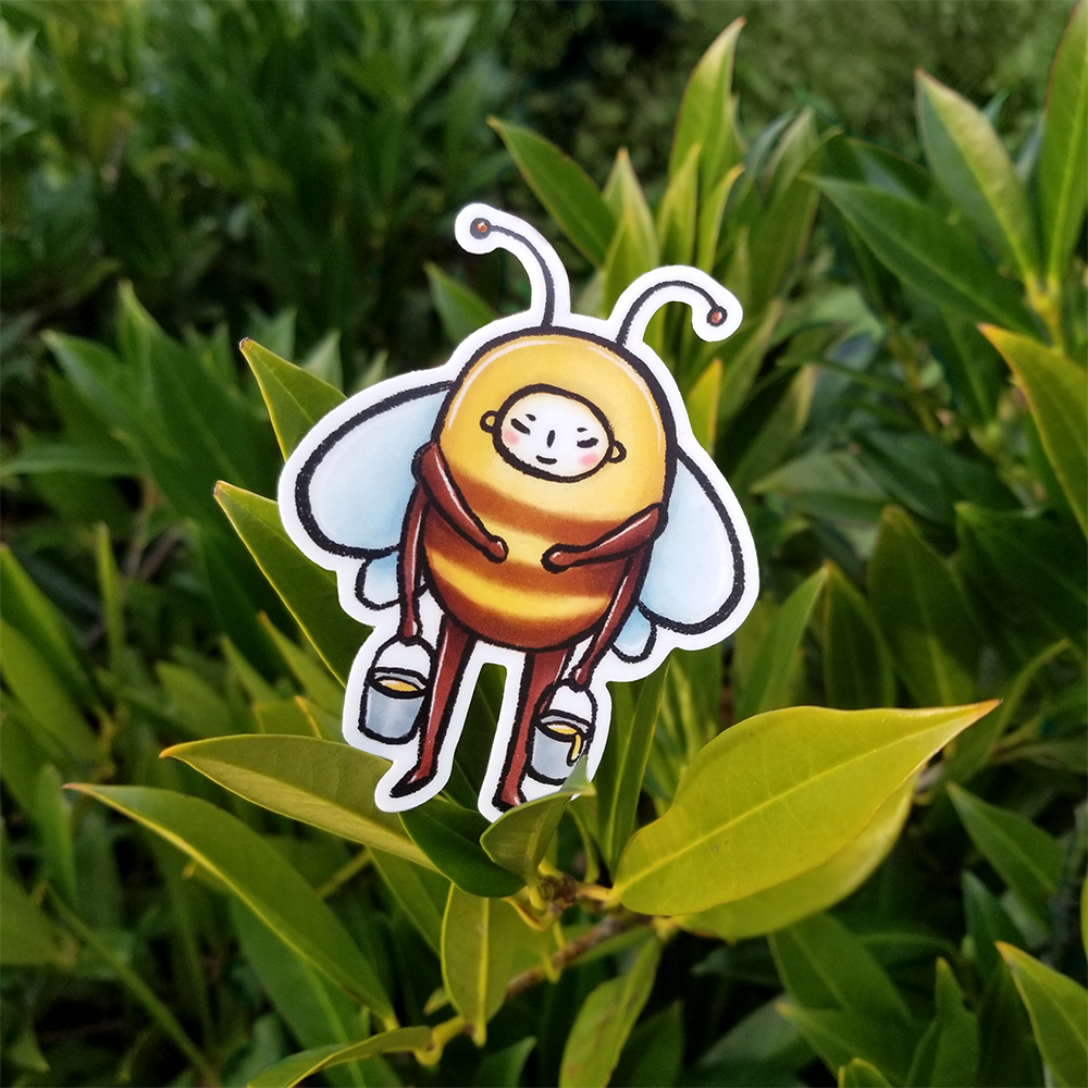 Bee Vinyl Sticker