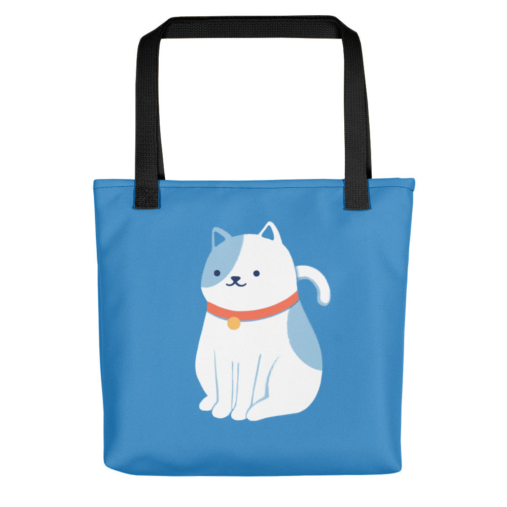 Cat Tote - Blue