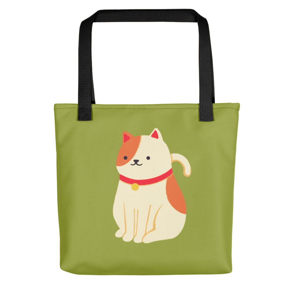 Cat Tote - Green
