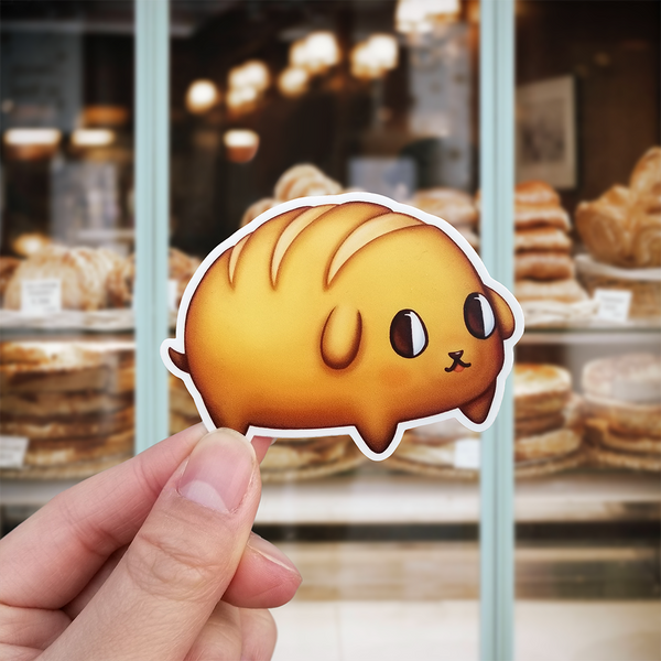 Bread Dog Vinyl Sticker (Pup-Pan)