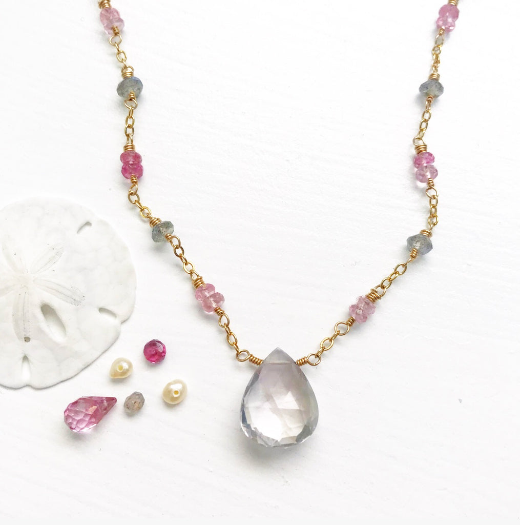 618-Gemstone Layering Necklace