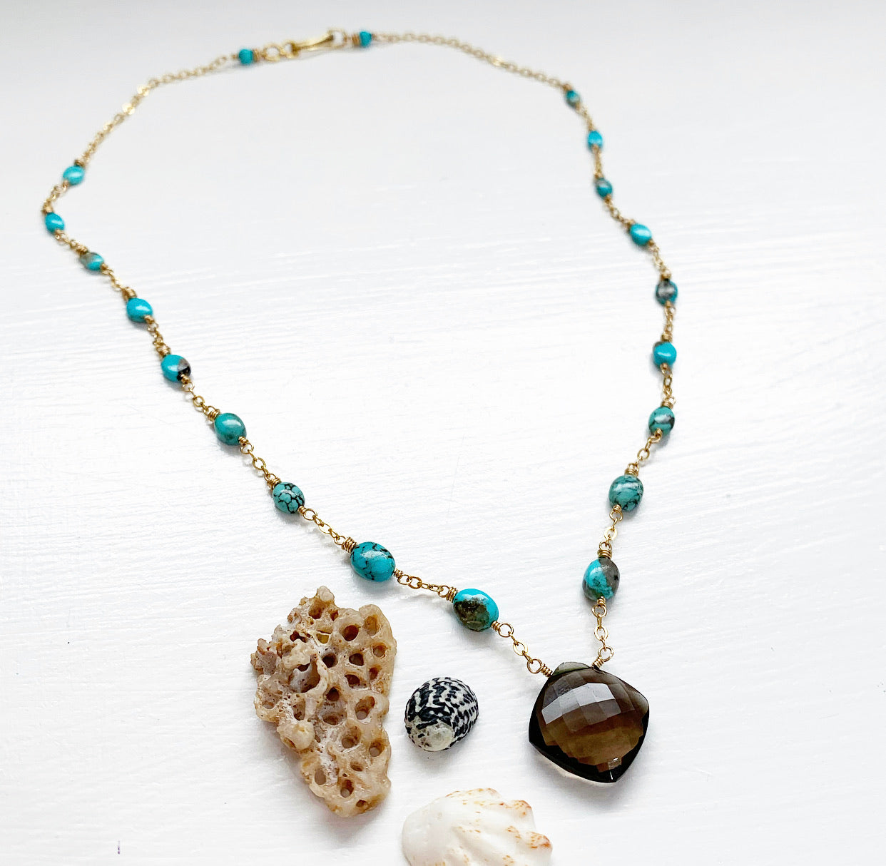 842-Gemstone Layering Necklace