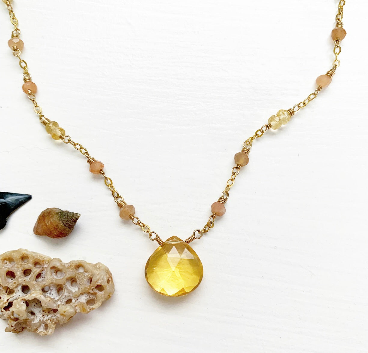 834-Gemstone Layering Necklace
