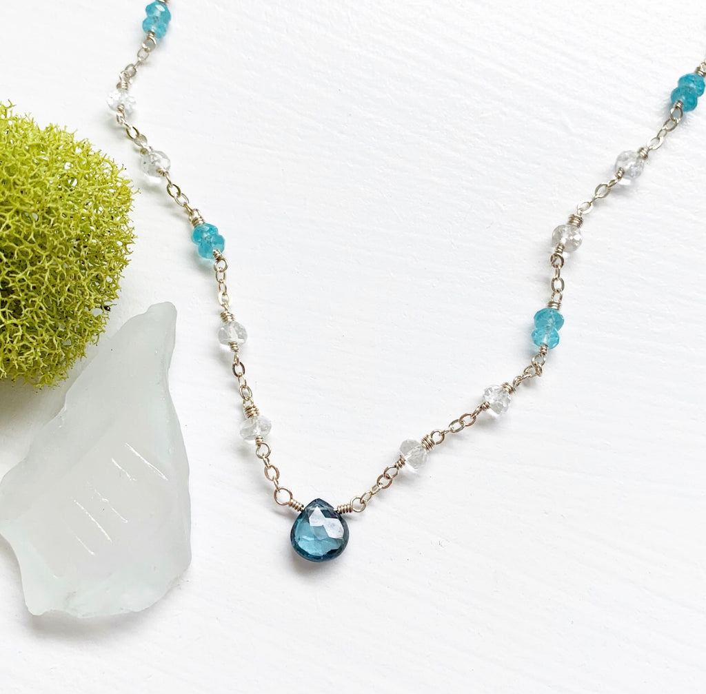 653-Gemstone Layering Necklace
