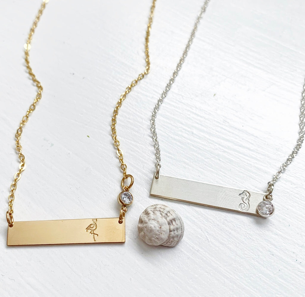 727-Hand Stamped Bar Necklace