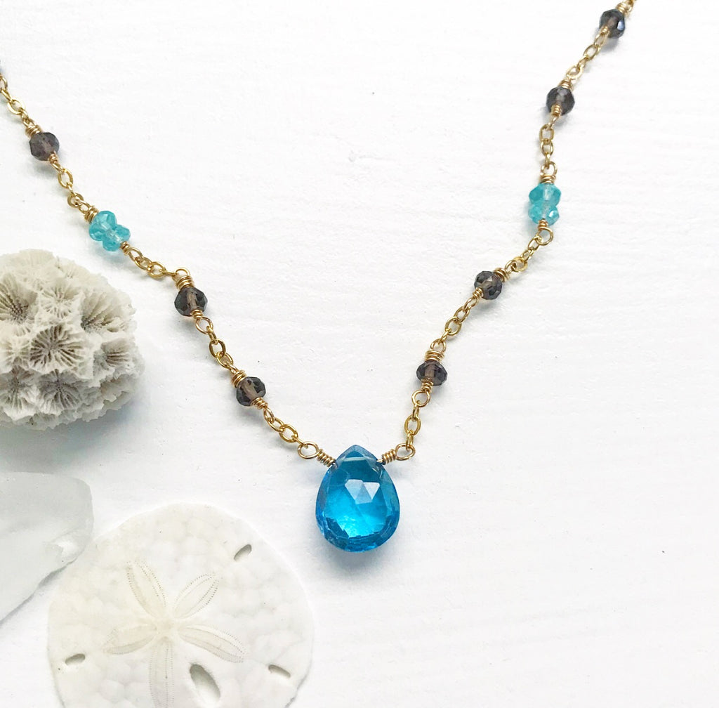 643-Gemstone Layering Necklace