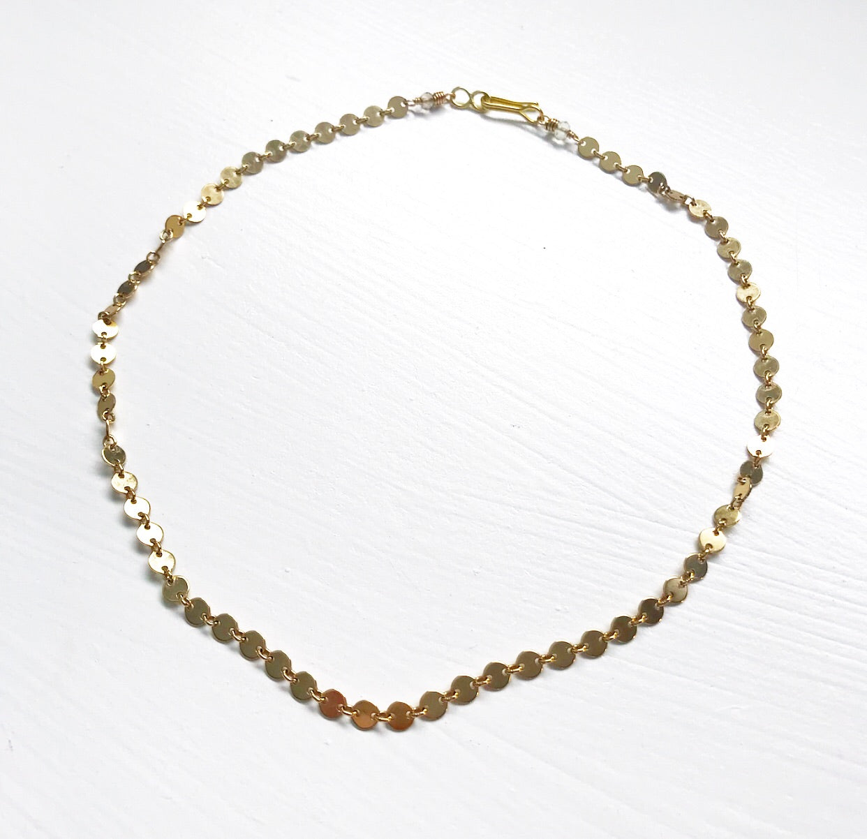 458-Gold Disco Chain Choker