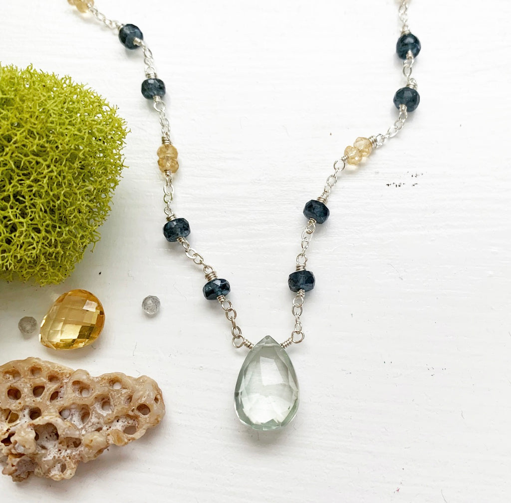707-Gemstone Layering Necklace