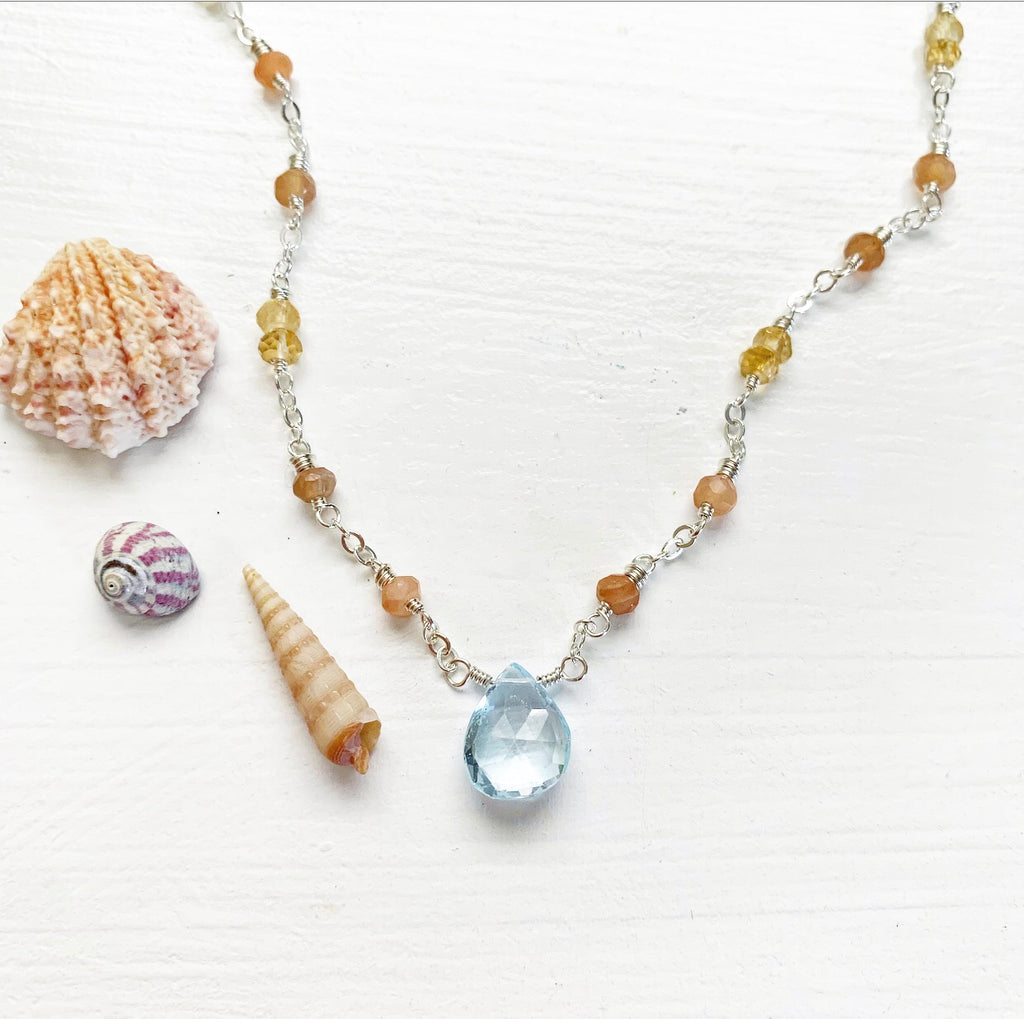 792-Gemstone Layering Necklace