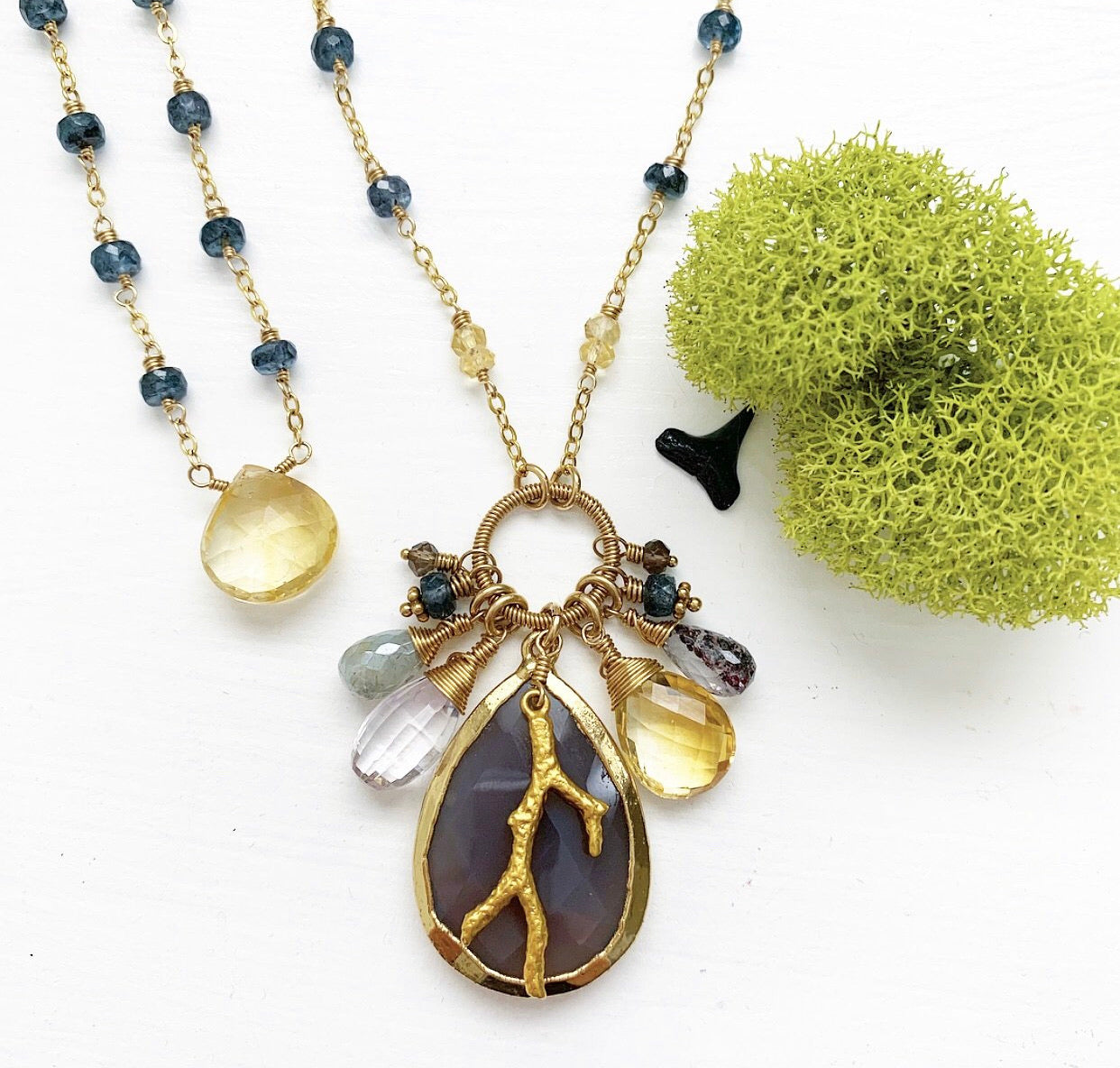 948-Gemstone Layering Necklace