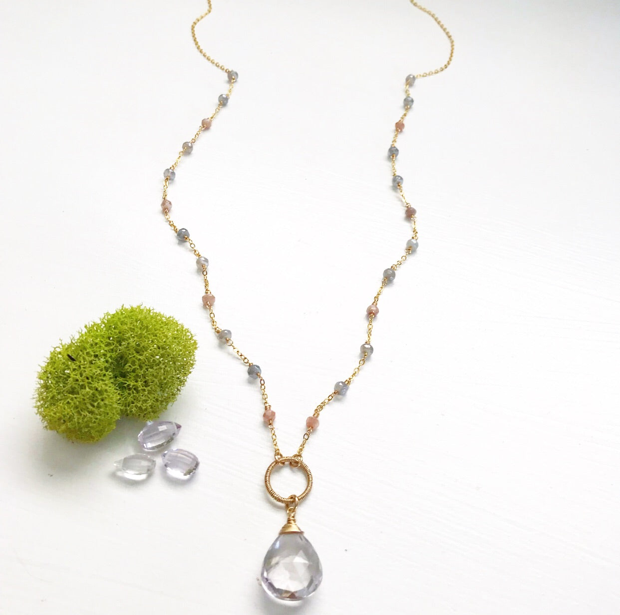583-One of a Kind Gemstone Necklace