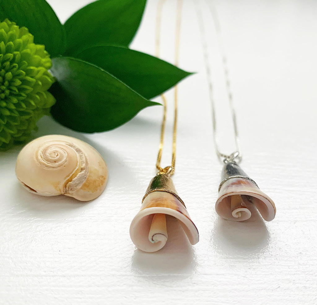 972-Spiral Cone Shell Necklace