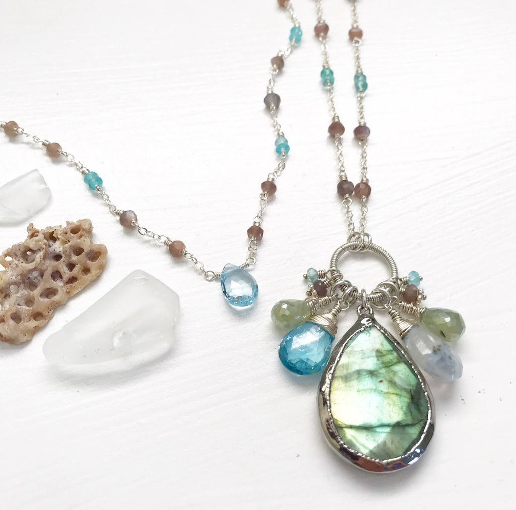 650-Gemstone Layering Necklace