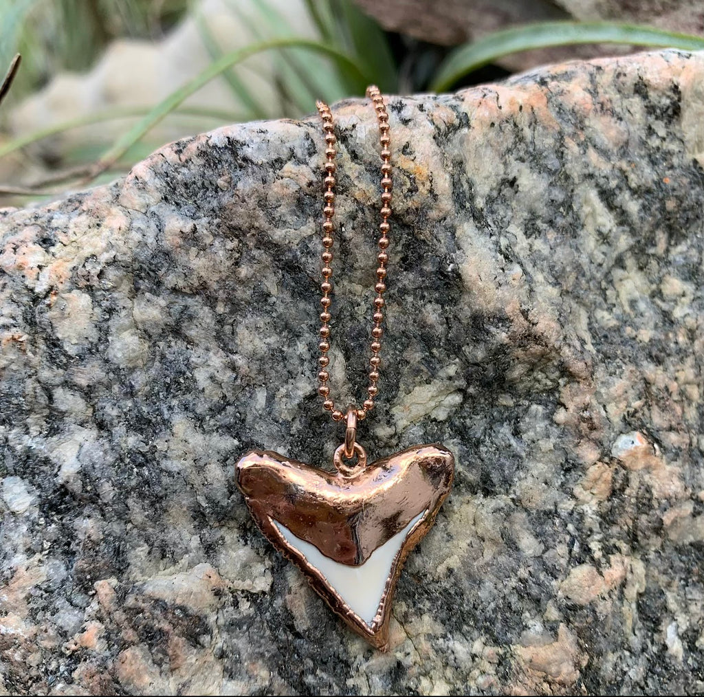 985 - Rose Gold Shark Tooth Necklace