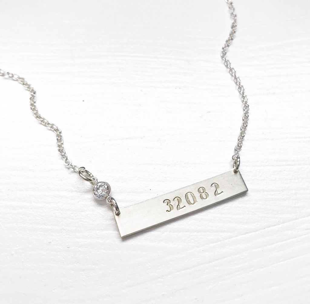 474-Hand Stamped Bar Necklace