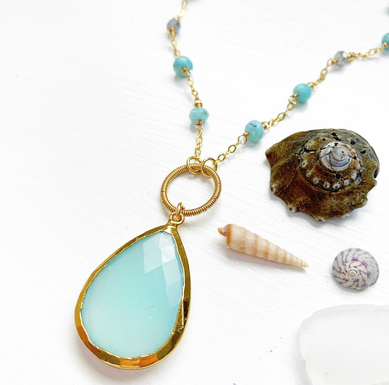 766-One of a Kind Gemstone Necklace