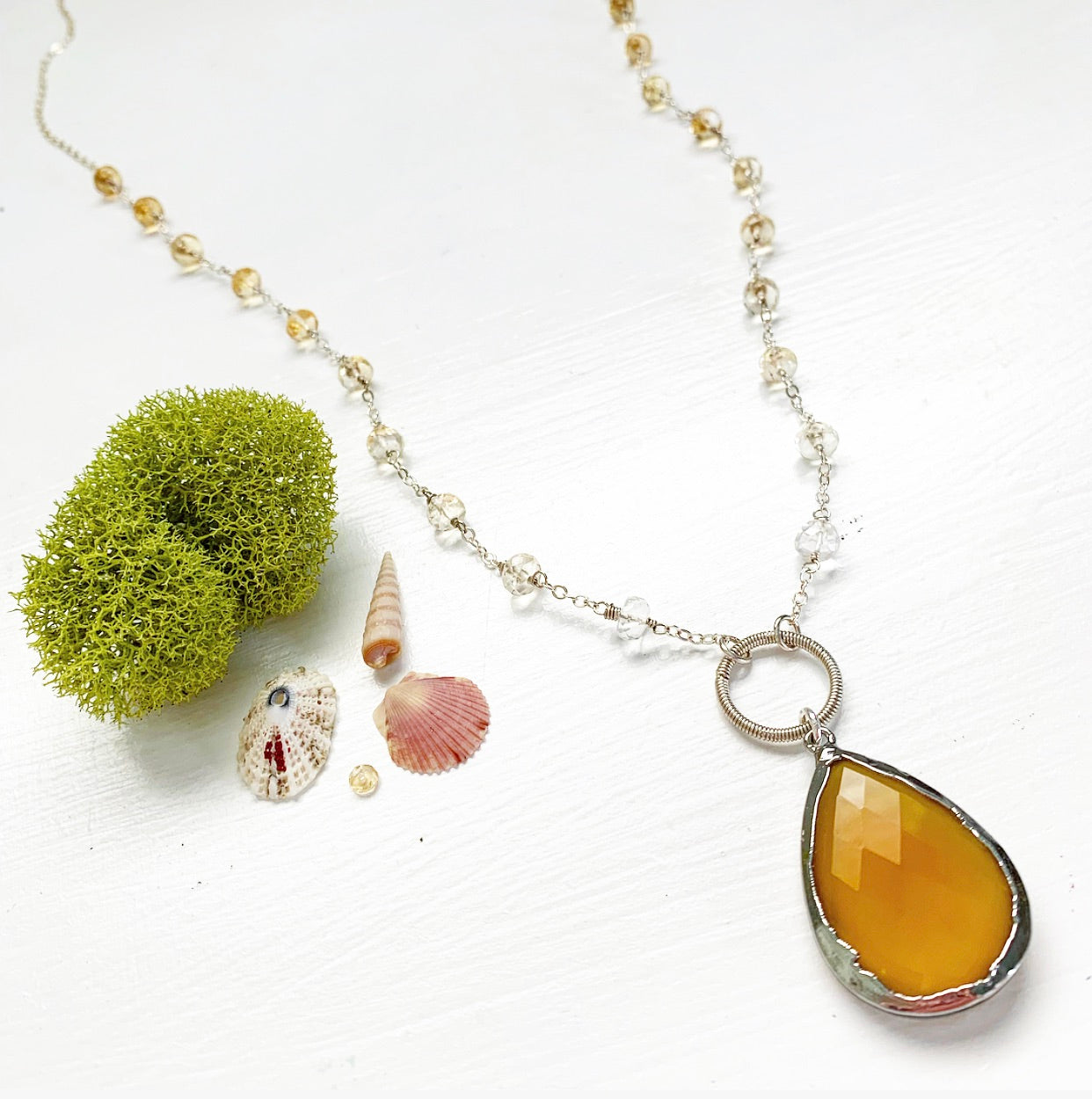 773-One of a Kind Gemstone Necklace
