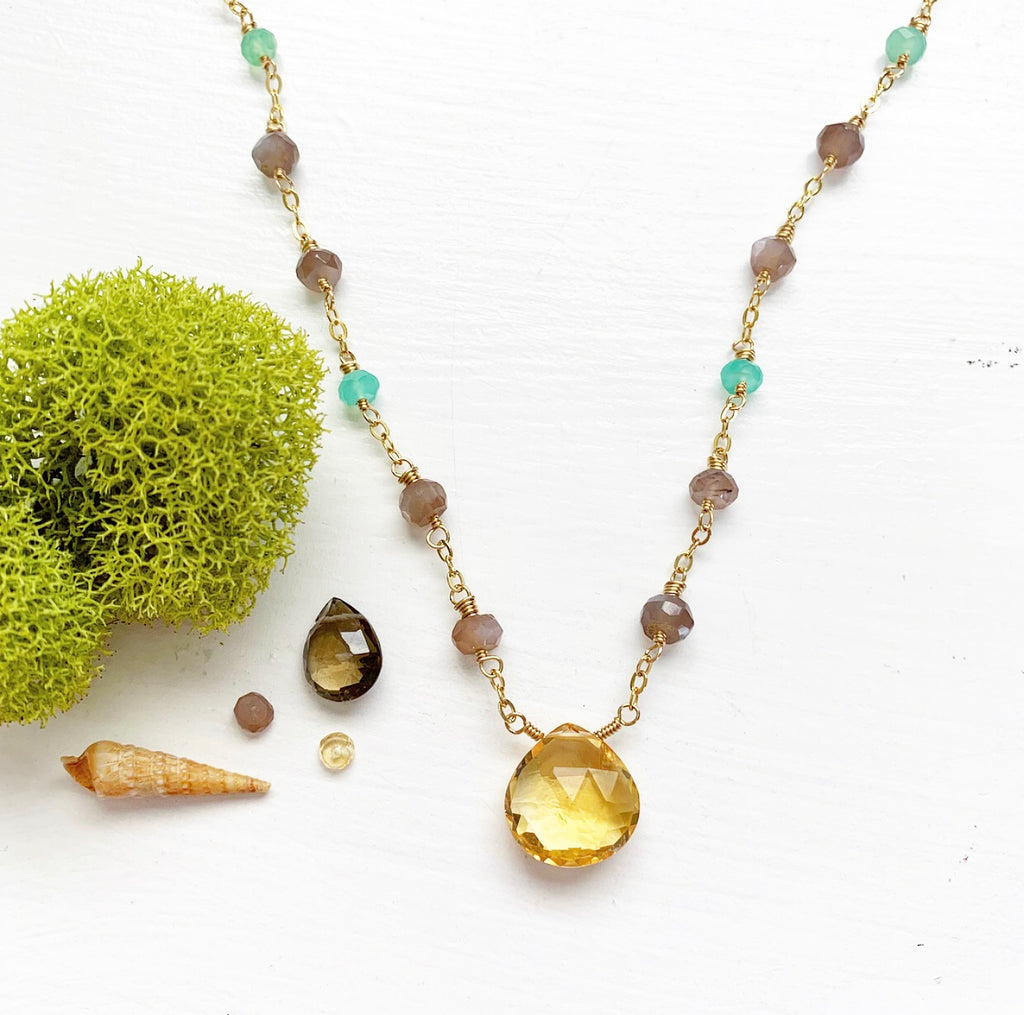 769-Gemstone Layering Necklace
