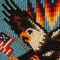 Beaded Eagle Belt Buckle