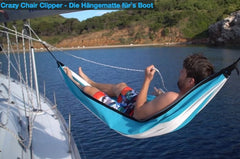 Crazy Chair Clipper Hängematte auf Segelyacht
