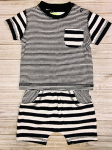 Black & White Stripe 2pc set