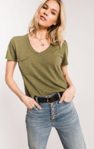THE AIRY SLUB POCKET TEE