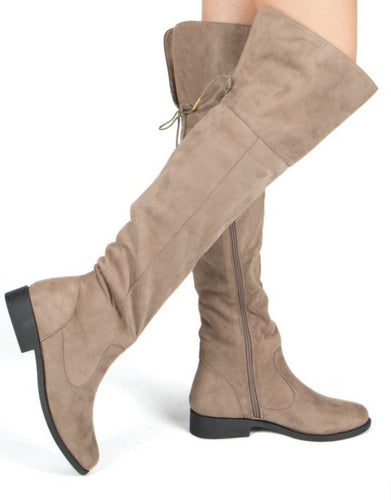 WOMENS KNEE HIGH ZIP UP TALL BOOTS ZION