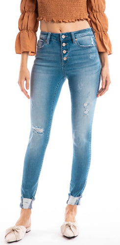 Kan Can High Waisted Medium Washed Denim
