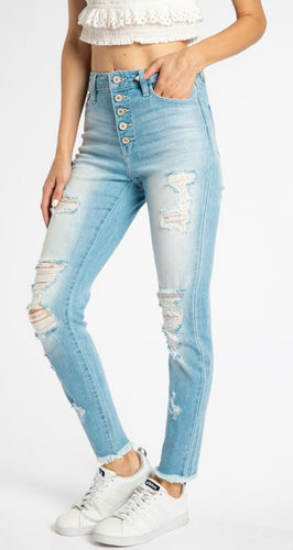 Kan Can High Waisted Light washed Denim