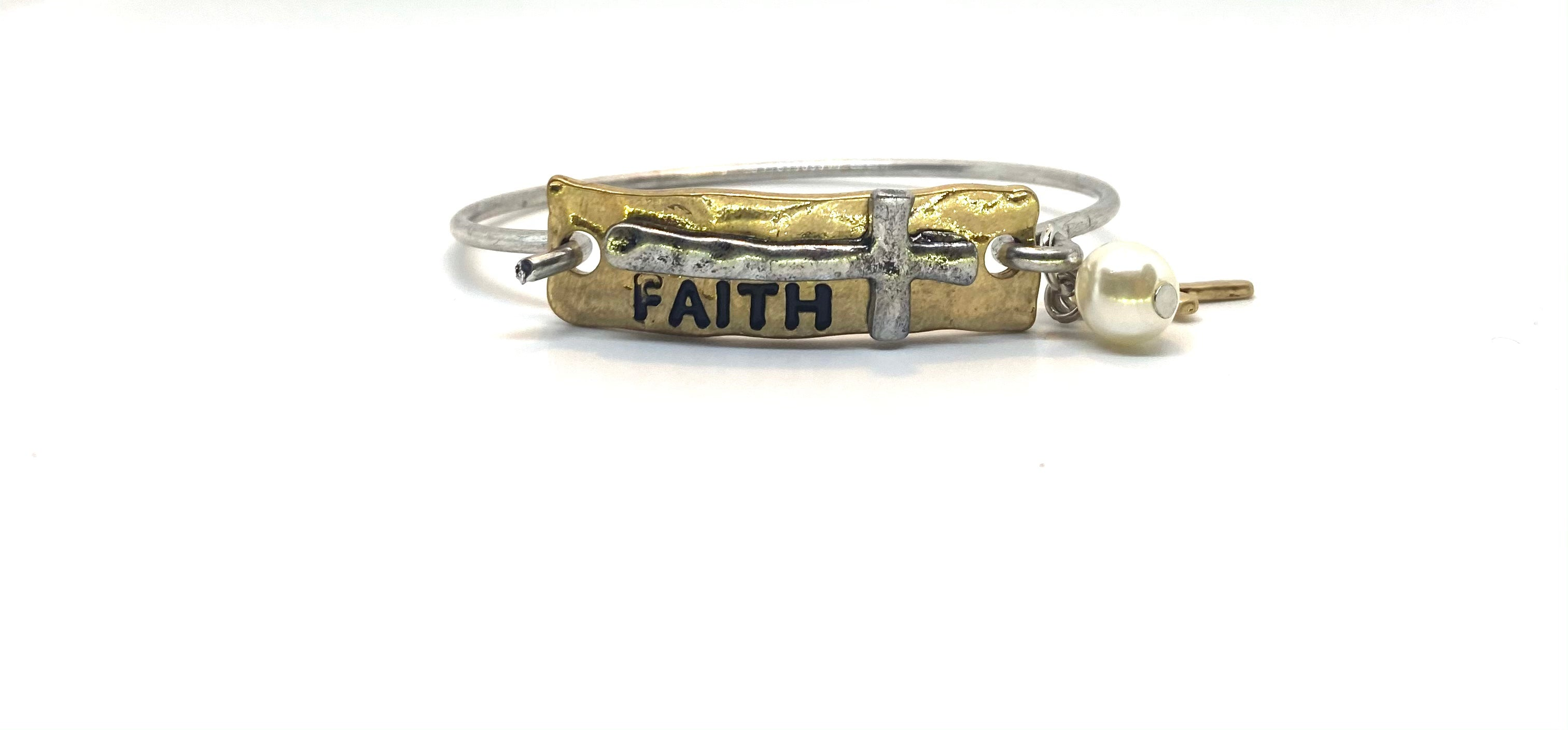 Faith Latch Bracelet