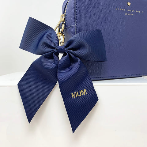 bow-keyring-navy-blush-grosgrain-mothers-day-johnny-loves-rosie-accessories