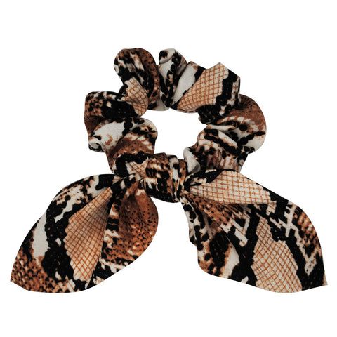 caramel-scrunchie-hair-accessory-snake-print-bow-tie-darcey-johnny-loves-rosie-accessories