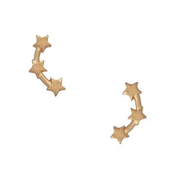gold-earrings-stud-star-celestial-trio-leia-johnny-loves-rosie-accessories