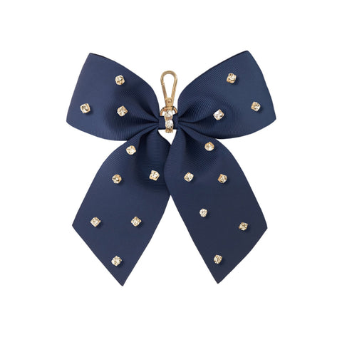 navy-bow-keyring-eloise-grosgrain-ribbon-johnny-loves-rosie-accessories
