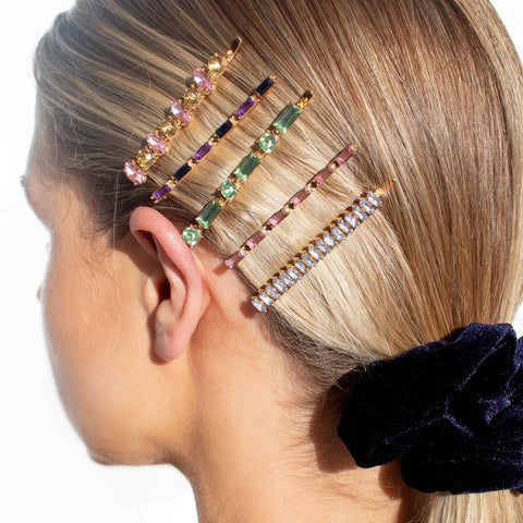 gold-colour-diamante-hair-slide-set-rainbow-zinnia-johnny-loves-rosie-accessories