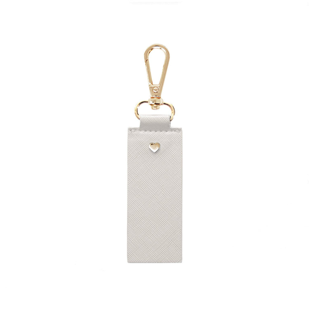 Grey-Keyring-Personalised-Gold-Heart-Vegan-Leather-Archie-Johnny-Loves-Rosie