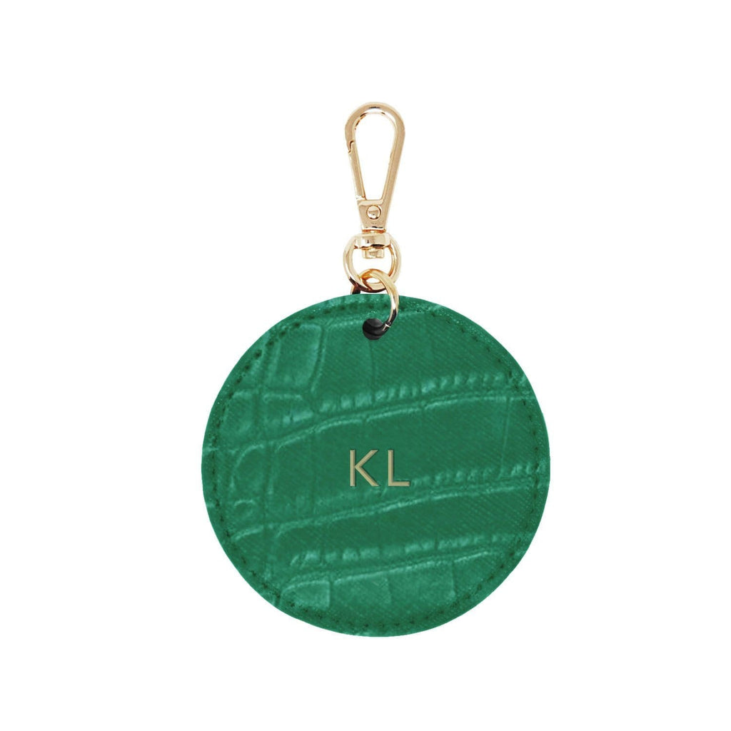 GREEN-LUXE-CROC-PERSONALISED-KEYRING-ARLO-JOHNNY-LOVES-ROSIE