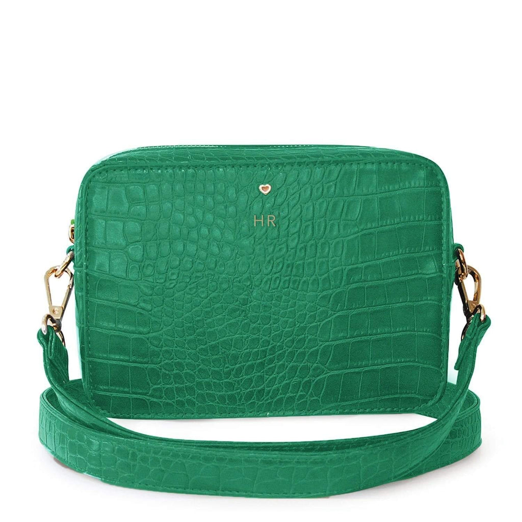 GREEN-COSSBODY-BAG-VEGAN-LEATHER-LUXE-CROC-PERSONALISED-CARRIE-JOHNNY-LOVES-ROSIE