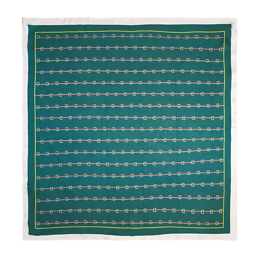 Emerald-Small-Block-Chain-Print-Scarf-Johnny-Loves-Rosie